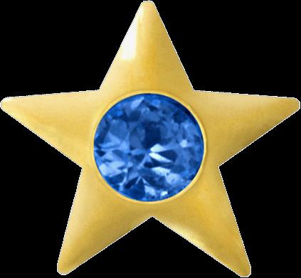 GoldStar, Stern mit Saphir